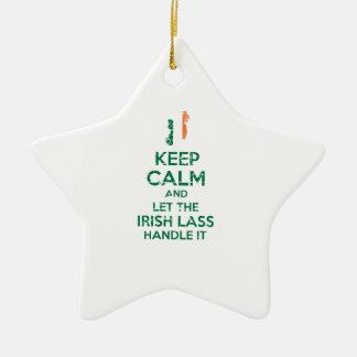 Irischer Mädchenentwurf Keramik Stern-Ornament