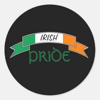 Irischer Stolz-Irland-Flaggen-Aufkleber Runder Aufkleber