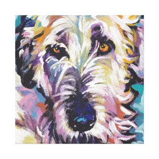 Irischer Wolfhound-Pop-Hundekunst auf Galerie Faltleinwand