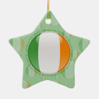 Irland-Blasen-Flagge Keramik Stern-Ornament