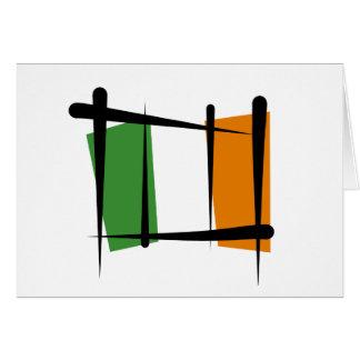 Irland-Bürsten-Flagge Grußkarte