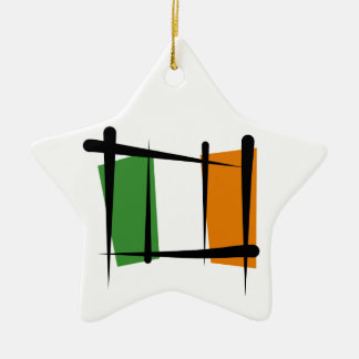 Irland-Bürsten-Flagge Keramik Stern-Ornament