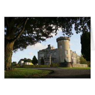 Irland, der Dromoland Schlossseiteneingang Grußkarte
