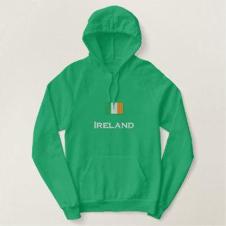 Irland-Flagge Bestickter Hoodie