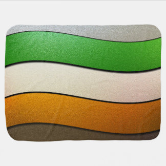 Irland-Flagge Farbe-Chrom Baby-Decke