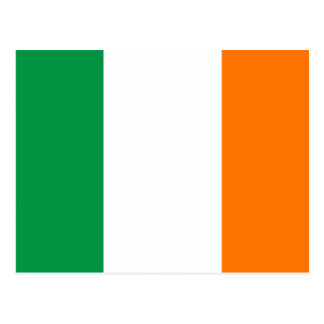 Irland-Flagge Postkarte