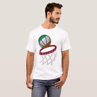 Irland-Flaggen-Basketballkorb T-Shirt