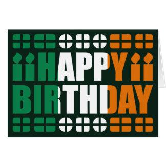 Irland-Flaggen-Geburtstags-Karte Grußkarte