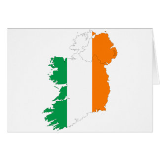 Irland-Flaggen-Karte Grußkarte