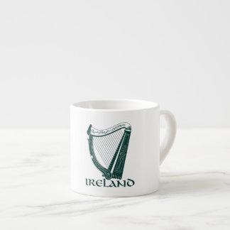Irland-Harfen-Entwurf, irische Harfe Espresso-Tassen