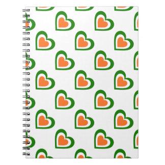 Irland/irisches Flagge-inspiriertes Personnalised Notizblock