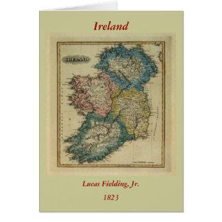 Irland-Karte 1823 durch Lucas, der jr. auffängt Grußkarte