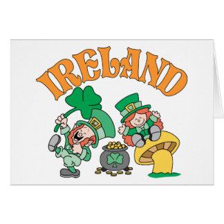 Irland-Kobolde Grußkarte