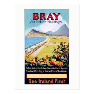 Irland-Schrei-Vintages Reise-Plakat wieder Postkarte