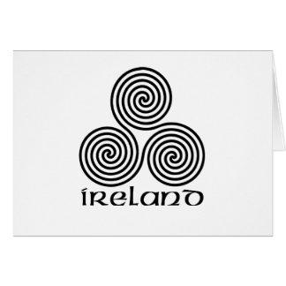 Irland und die dreifache Spirale Grußkarte