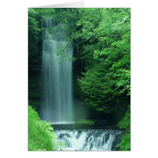 Irland-Wasserfall Grußkarte