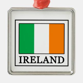 Irland-Weihnachtsverzierung Silbernes Ornament