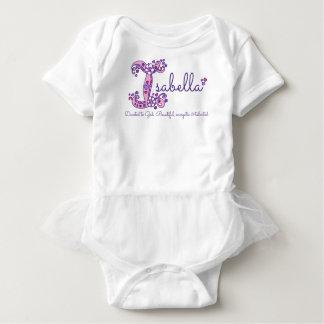 Isabella-Mädchen Name u. Monogramm-Shirt der