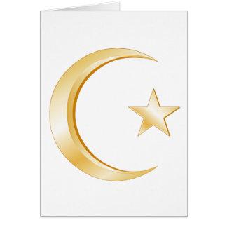 Islam-Symbol Mitteilungskarte
