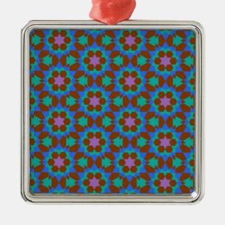 islamisches geometrisches Muster Silbernes Ornament