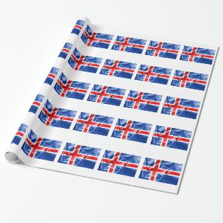 Island-Flagge Geschenkpapier