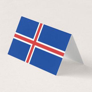 Island-Flagge Platzkarte