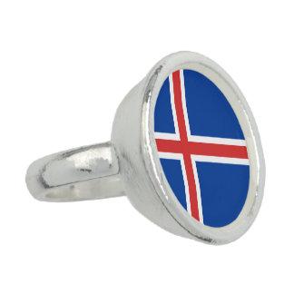 Island-Flagge Ringe