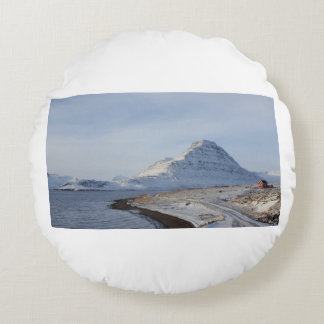 Isländischer Berg Rundes Kissen