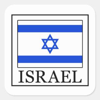 Israel-Aufkleber Quadratischer Aufkleber