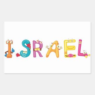 Israel-Aufkleber Rechteckiger Aufkleber