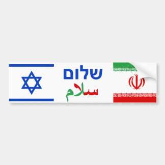 Israel + Der Iran-Freundschaft Autoaufkleber