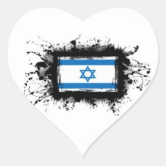 Israel-Flagge Herz-Aufkleber