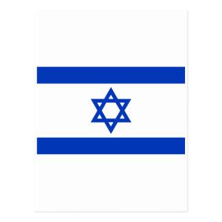 Israel-Flagge Postkarte