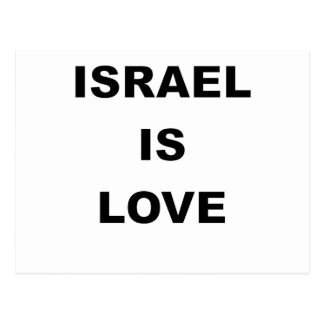 ISRAEL IST LOVE.png Postkarte