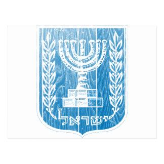 Israel-Wappen Postkarte