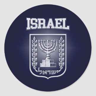 Israel-Wappen Runder Aufkleber