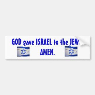 israeli_flag_Israel, israeli_flag_Israel, GOTT g… Autoaufkleber