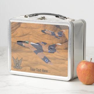 Israelisches SuperMystères über der Wüste Metall Lunch Box