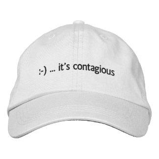 :-)… ist es ansteckender gestickter Hut Bestickte Baseballkappen