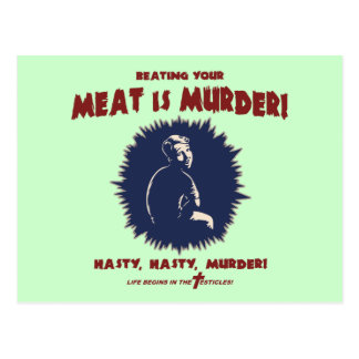 … Ist Fleisch Mord Postkarte