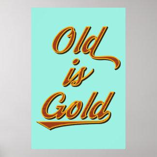 Ist GoldRetro Plakat alt