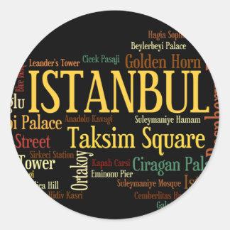 ISTANBUL-Aufkleber Runder Aufkleber
