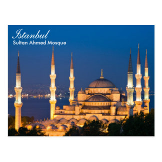 Istanbul - Sultans-Ahmed-Moschee an der Postkarte