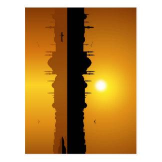 Istanbul und Sonnenuntergang Postkarte