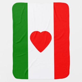 Italien-Italiener-Italien-Flagge Tricolore Entwurf Baby-Decke