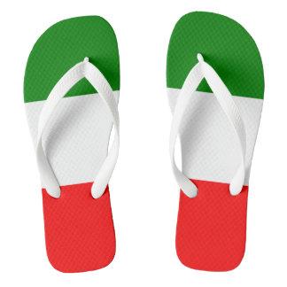 Italien-Italiener-Italien-Flagge Tricolore Entwurf Badesandalen