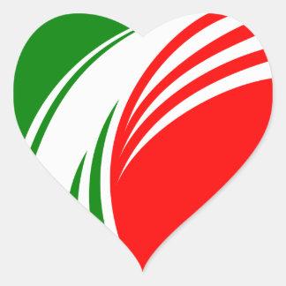Italien-Italiener-Italien-Flagge Tricolore Entwurf Herz Sticker