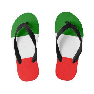 Italien-Italiener-Italien-Flagge Tricolore Entwurf Kinderbadesandalen