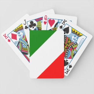 Italien-Italiener-Italien-Flagge Tricolore Entwurf Pokerkarten