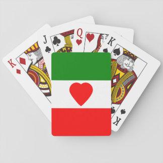 Italien-Italiener-Italien-Flagge Tricolore Entwurf Spielkarte